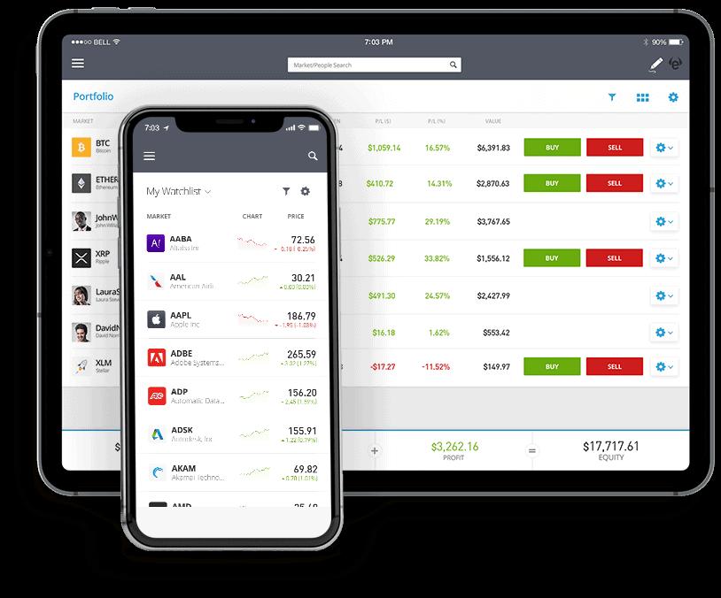 eToro stock app