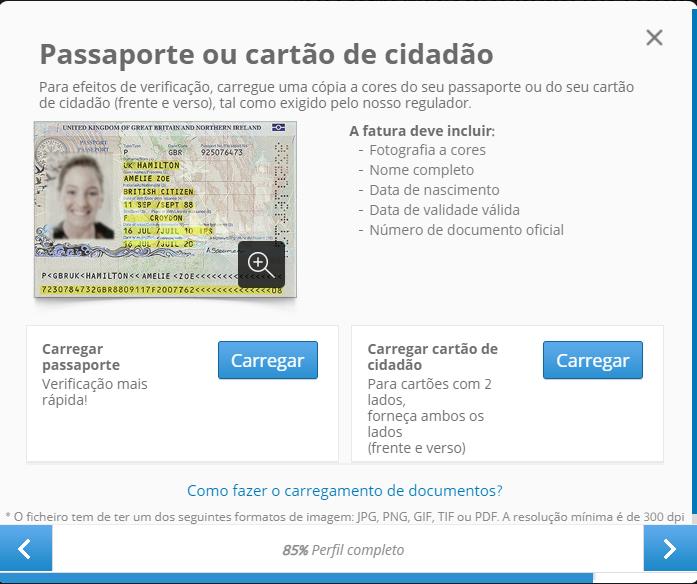 documentos etoro portugal