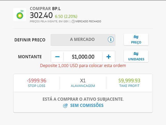 investir 1000€ em ações