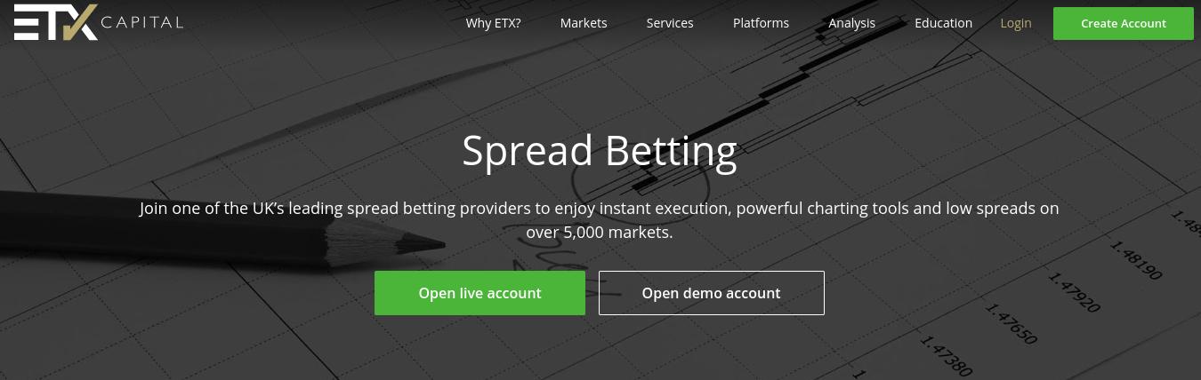 etx capital spread betting platform best mt4 brokers uk