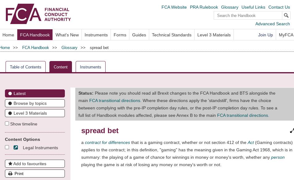 fca spread betting