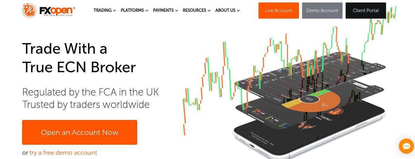 FX Open best MT5 broker uk