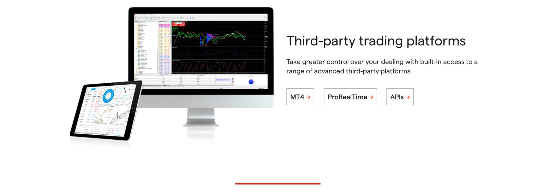 IG third-party trading platforms