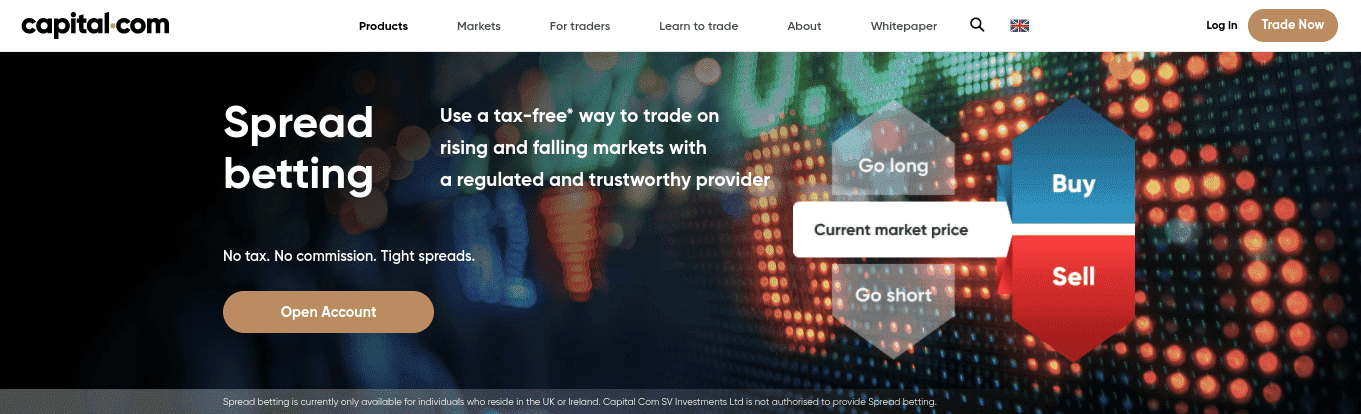 spread betting at capital.com