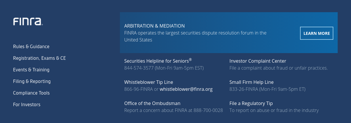 FINRA regulation on trading platforms