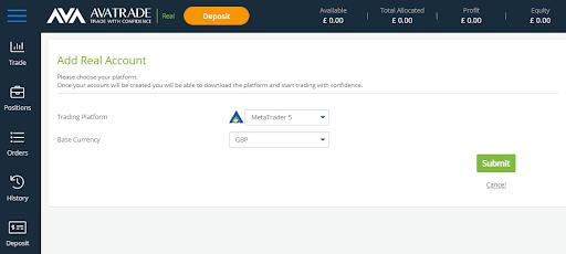MT5 Brokers AvaTrade Download