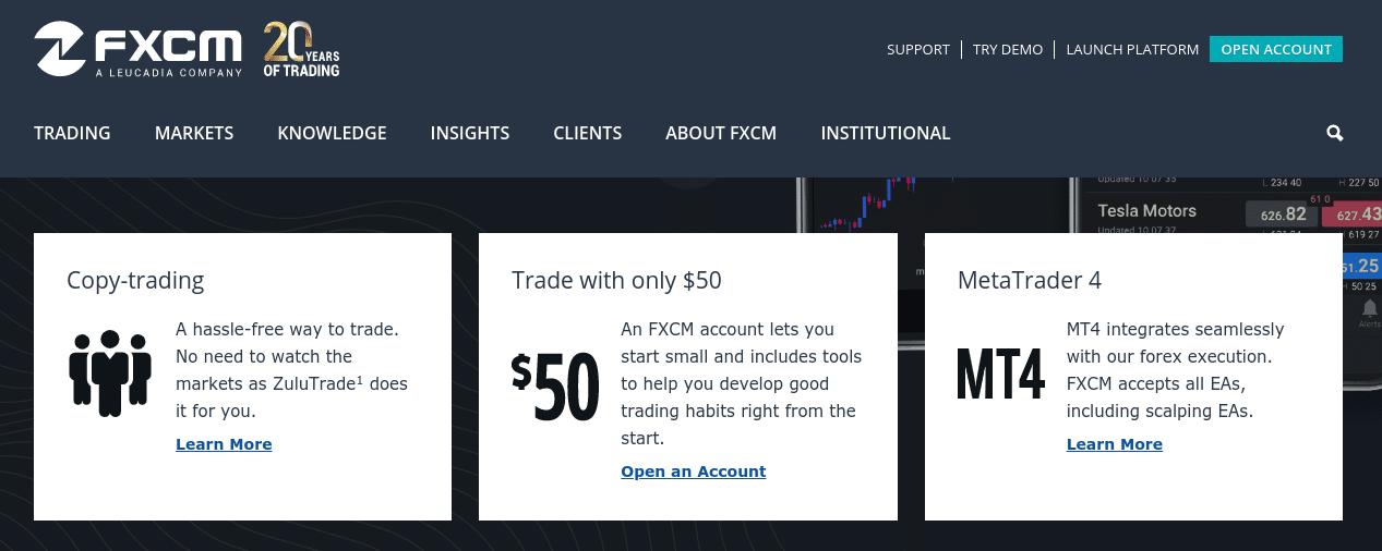FXCM forex trading UK