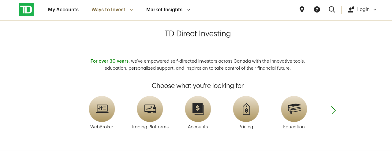 TD direct investing canada review
