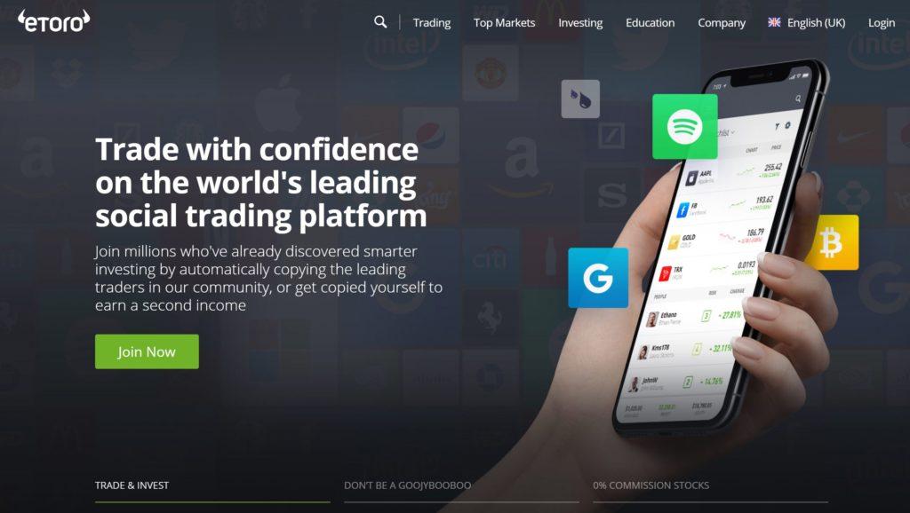 eToro Homepage