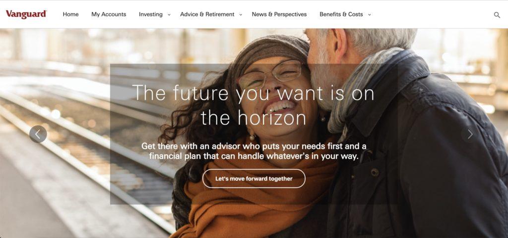 vanguard home page