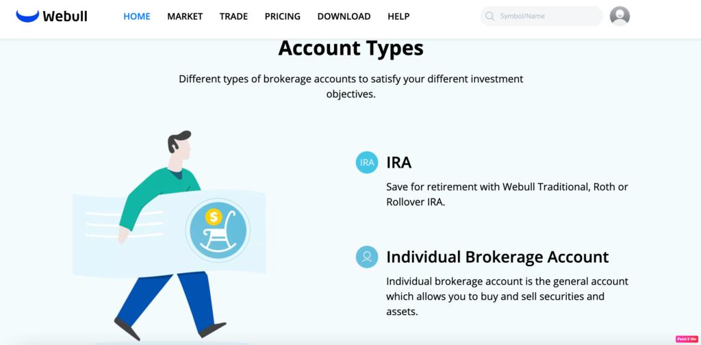 Webull account types
