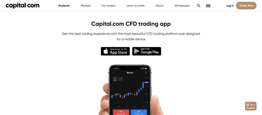 capital.com home page
