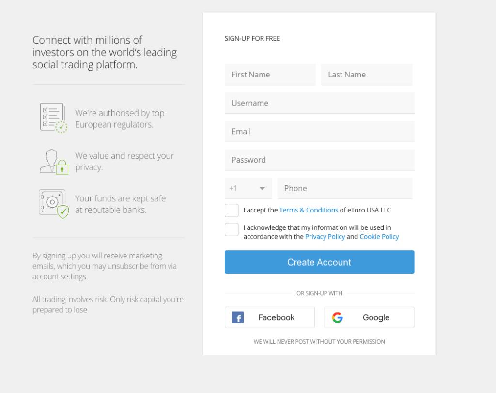etoro trading platform signup