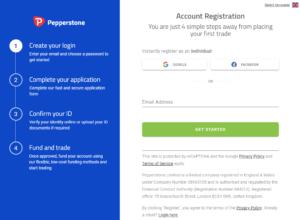 Create a Pepperstone account