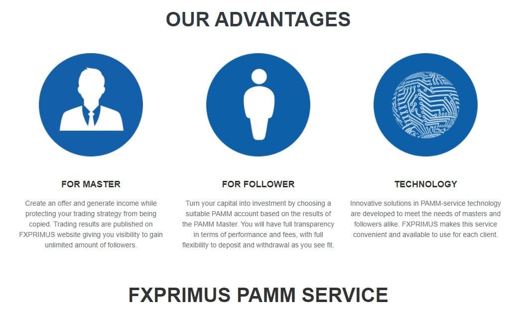 FX Primus PAMM service