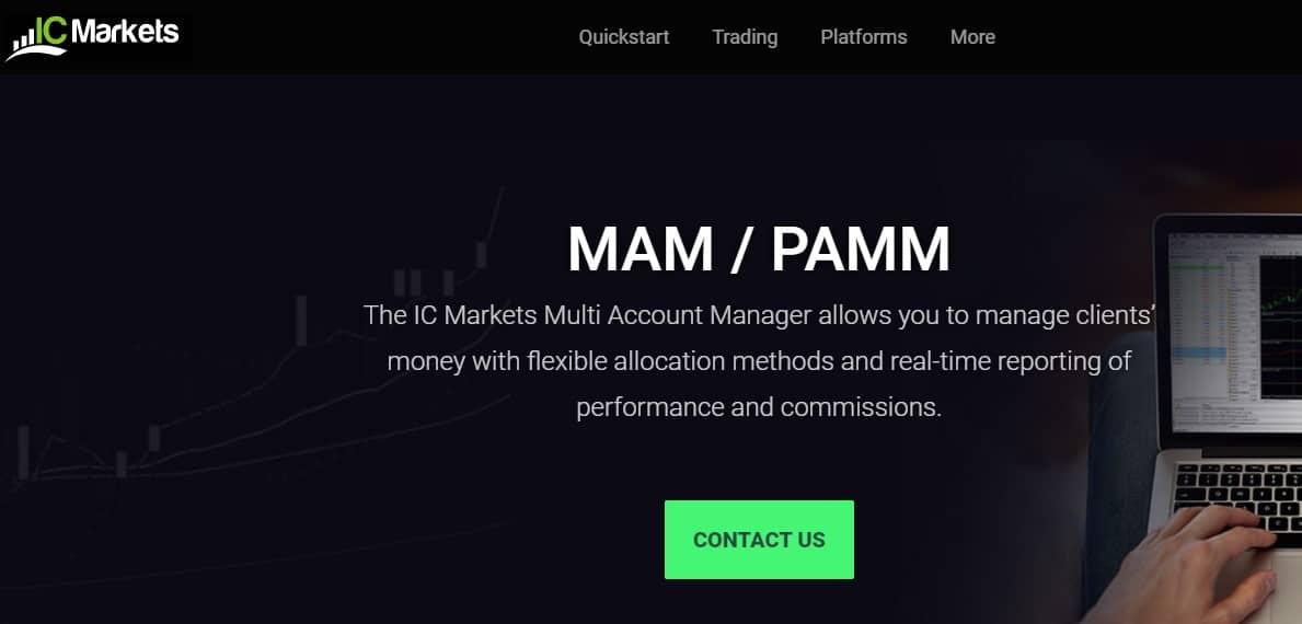 IC Markets MAM PAMM