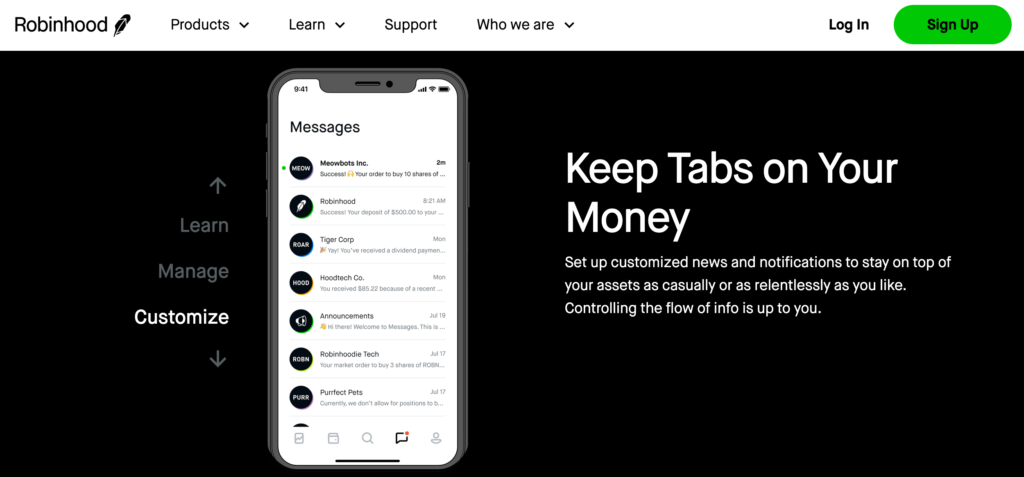Robinhood-mobile-app