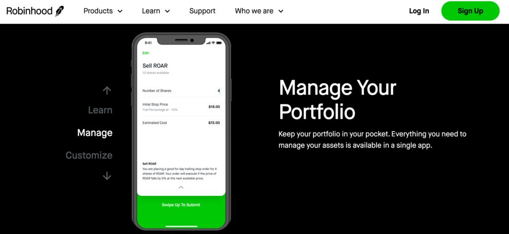 Robinhood Mobile Trading App