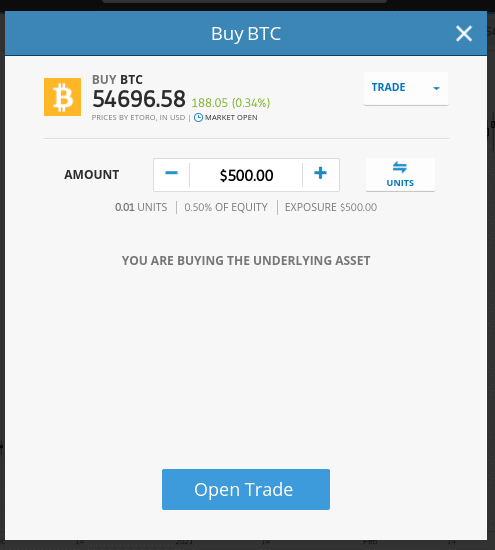 trade bitcoin etoro