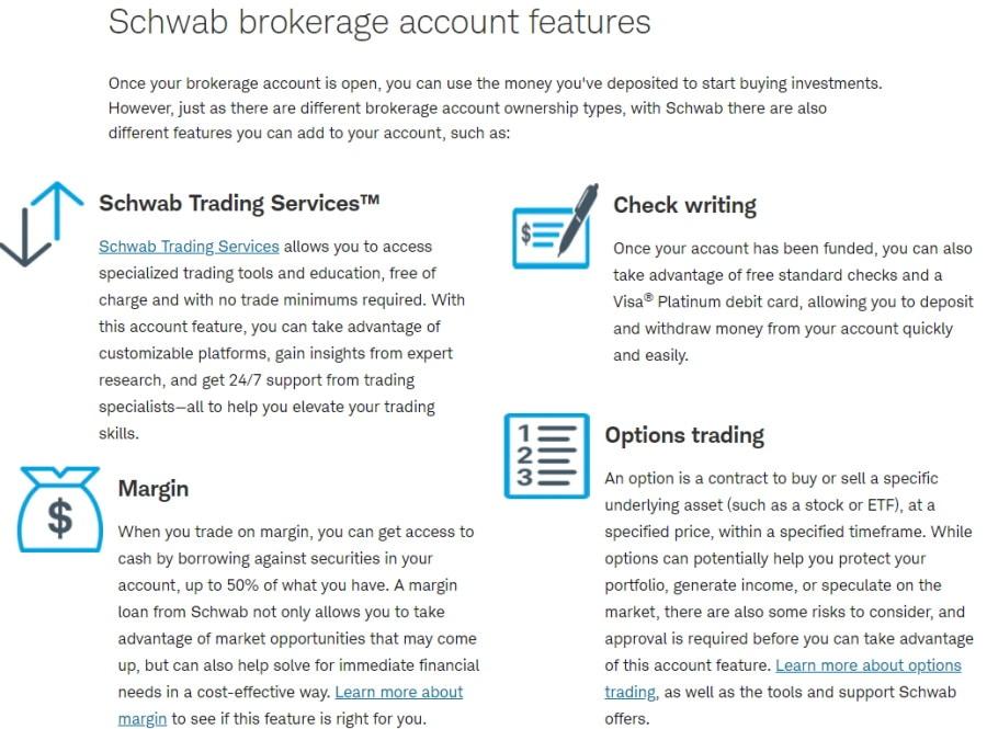 Charles Schwab account types