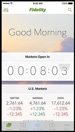 Fidelity mobile trading app