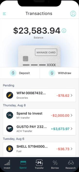 M1 Finance Mobile app