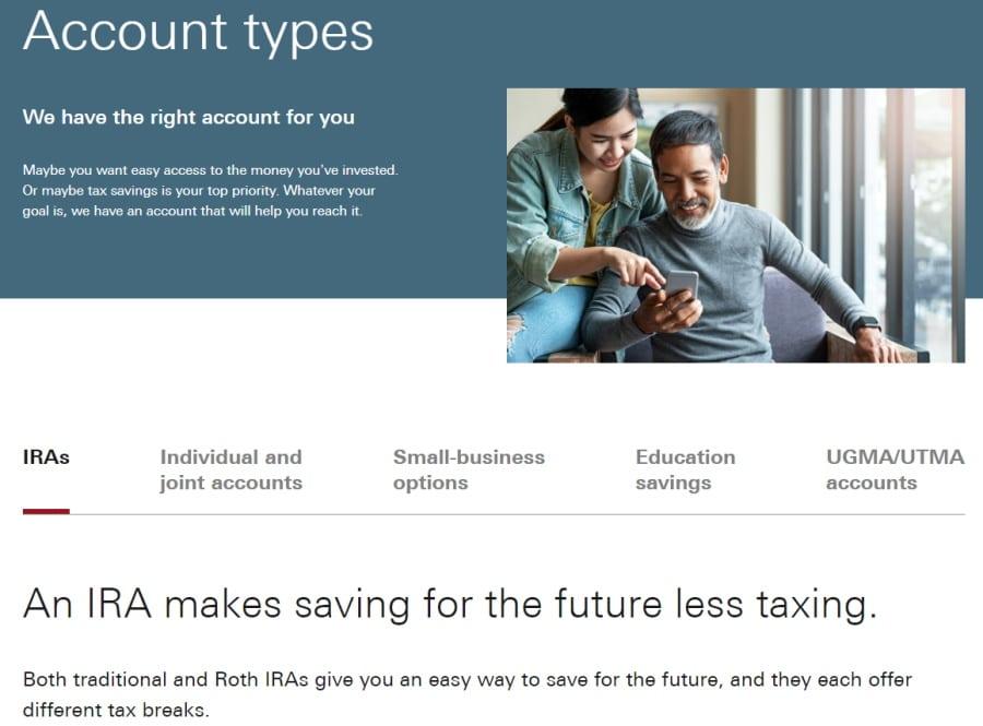 Vanguard account types