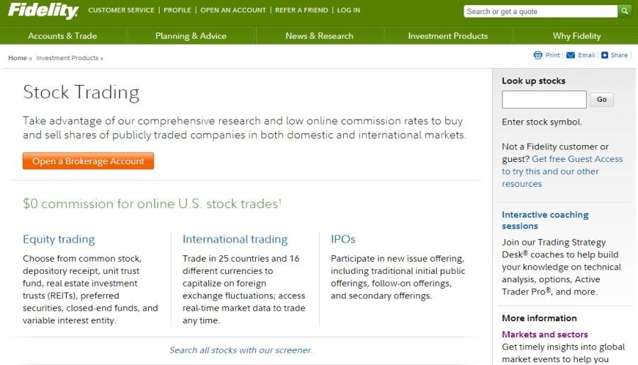 Fidelity stocks