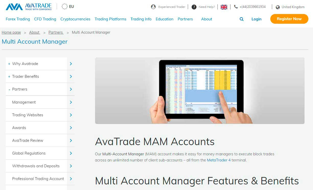 AvaTrader MAM Accounts