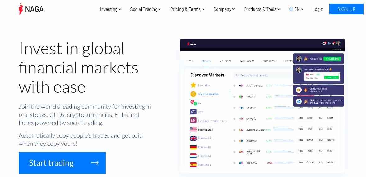 NAGA social trading review