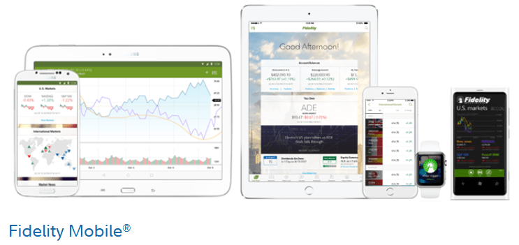 Fidelity Mobile trading