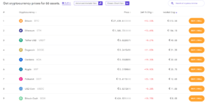 Kraken Cryptocurrency Prices