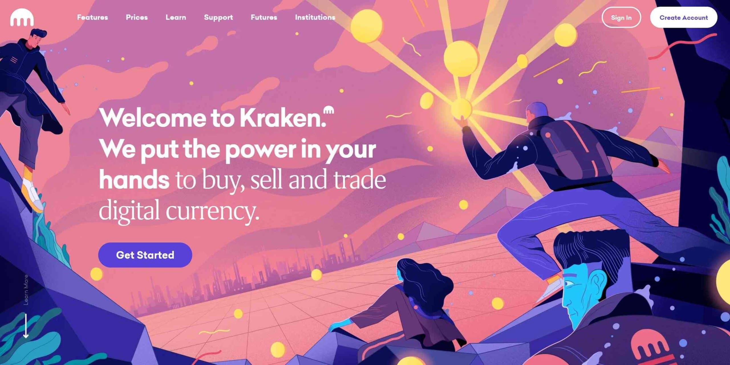 Kraken Homepage