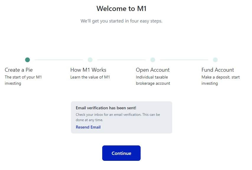 M1 Finance review sign up steps
