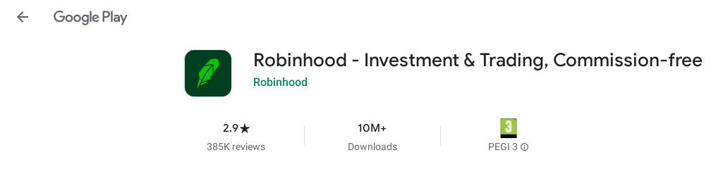 robinhood app google play