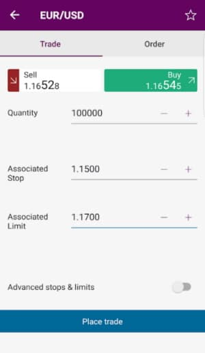 Ally Invest mobile trading app