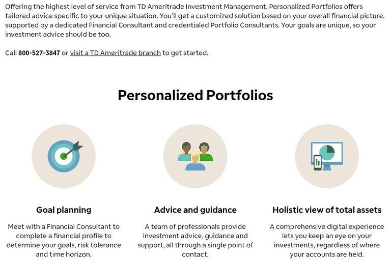 TD Ameritrade Personalised portfolios