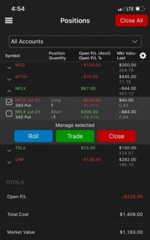 TradeStation mobile trading app