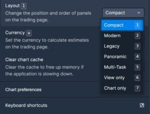 Bittrex Trading Platform Layout