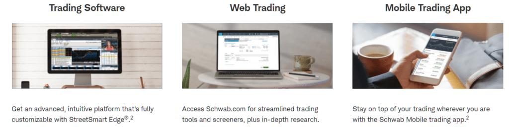 Charles Schwab trading platforms