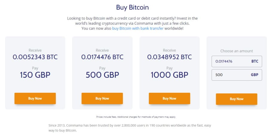 Buy Bitcoin with Coinmama