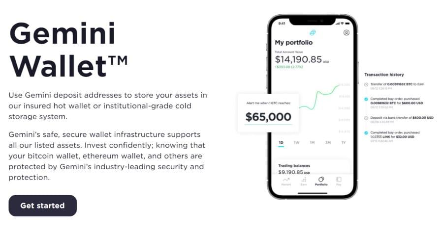 Gemini crypto wallets