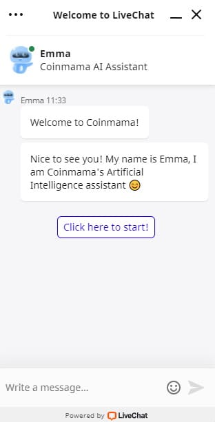 Coinmama LiveChat
