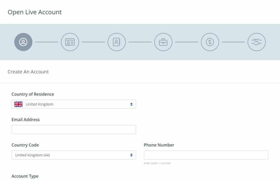 FXCM Open an Account