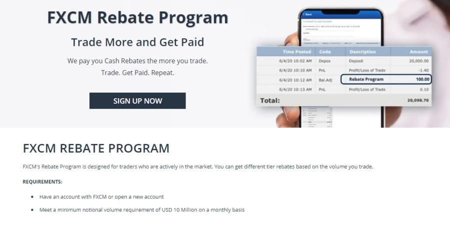 FXCM Rebate Program