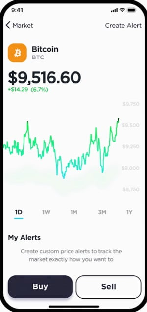 Gemini mobile trading app
