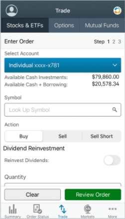how to sell on charles schwab