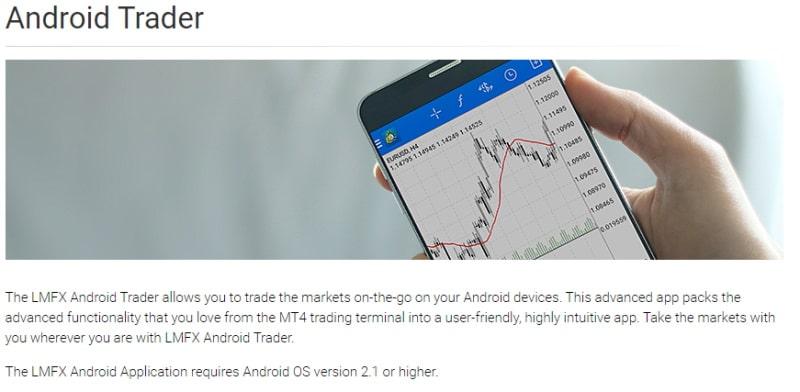 LMFX Android trader