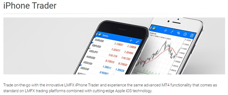 LMFX iPhone trader