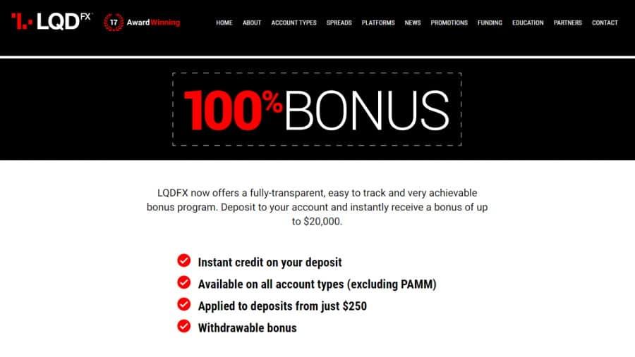 LQDFX 100% Bonus Program